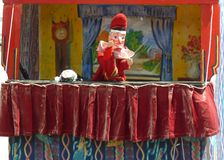 Punch and Judy show. Punch and Judy at a seaside event in the UK Royalty Free Stock Image