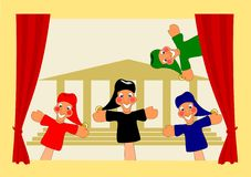 Punch and Judy policy. Punch and Judy policy illustration Stock Photography