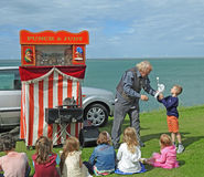 Punch and judy puppeteer