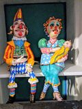 Punch and Judy on a shelf Royalty Free Stock Photo