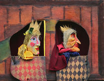 Punch and Judy show. Close-up of Punch and Judy show characters stock images