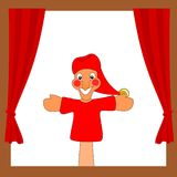 Punch and Judy show. vector illustration