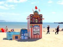 Punch & Judy, Weymouth, Dorset, UK. Stock Image