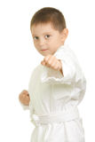 Punch with left fist Royalty Free Stock Image