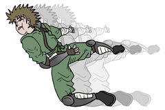 Punch ninja Stock Photo