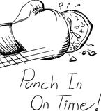 Punch In On Time Royalty Free Stock Photography