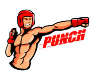 Punch. Vector illustration of a boxer throw a punch Stock Photo