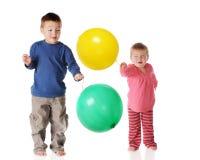 Punchball Siblings Stock Photos