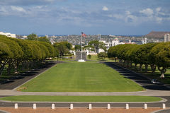 Punchbowl. National cemetery of the Pacific in Honolulu's Punchbowl royalty free stock photo