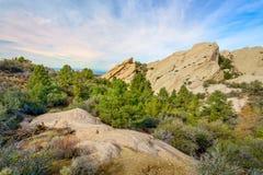 Punchbowl du diable en Californie du sud photo libre de droits