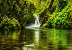 Punchbowl Falls, Columbia Gorge Stock Photos