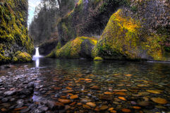 Punchbowl Falls, Oregon. Punchbowl Falls in the Columbia River Gorge, Oregon Royalty Free Stock Images