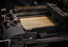 The punched card of an old device Royalty Free Stock Photos