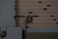 The punched card of an old device Stock Photography