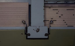 The punched card of an old device Royalty Free Stock Photography