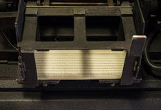 The punched card of an old device Royalty Free Stock Images