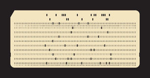 Punched card. Vintage computer data storage Royalty Free Stock Images
