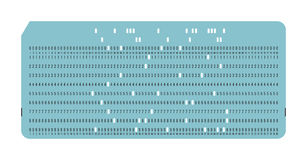 Punched card. Vintage computer data storage Stock Images
