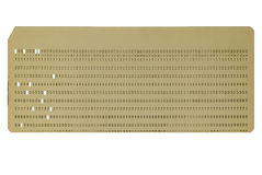 Punched card - yellow. Old yellow punched data card royalty free stock photo