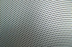 Punched metal. Cloesup of punched metal texture Stock Photos
