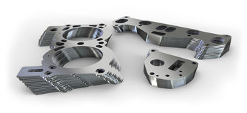 Punched metal parts Royalty Free Stock Images