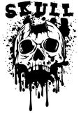 Punched skull and lettering skull Stock Photos