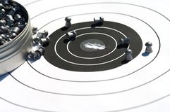 The punched target. Royalty Free Stock Photo
