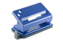 Puncher de agujero azul Imágenes de archivo libres de regalías