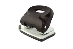 Puncher di buco nero isolato su fondo bianco Fotografia Stock