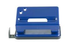 Puncher di foro blu Fotografia Stock