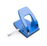 Puncher di foro blu dell'ufficio Fotografie Stock Libere da Diritti
