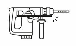 Puncher vectorpictogram Stock Afbeelding