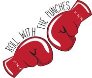 With The Punches Stock Photo