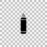 Punching εικονίδιο τσαντών επίπεδο διανυσματική απεικόνιση