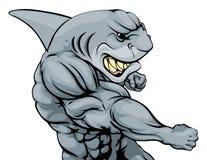 Punching μασκότ καρχαριών Στοκ εικόνα με δικαίωμα ελεύθερης χρήσης