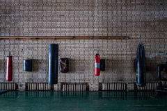 Punching τσάντα στη γυμναστική Στοκ φωτογραφία με δικαίωμα ελεύθερης χρήσης