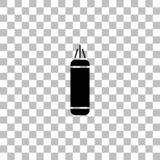 Punching bag icon flat vector illustration