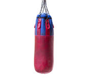 Punching bag for boxing isolated on white background. Stock Photography