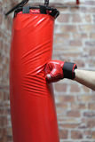 Punching Bag Exercises Royalty Free Stock Photo