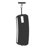 Punching bag isolated icon Royalty Free Stock Photography