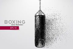 Punching bag from particles. Stock Image