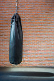 Punching bags in boxing room Royalty Free Stock Photo