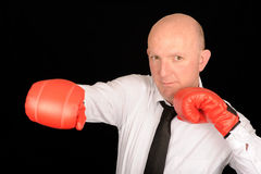 Punching Businessman Stock Photos