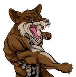 Punching Coyote Mascot Stock Photo