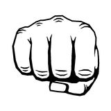Punching hand with clenched fist vector illustration Stock Photos