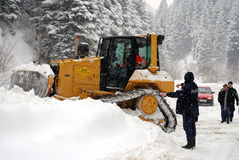 Punching through high snow loads, Restelica Kosovo Royalty Free Stock Images