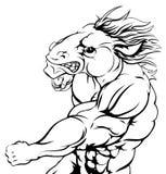 Punching horse mascot Royalty Free Stock Photo