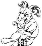 Punching ram mascot Royalty Free Stock Photo