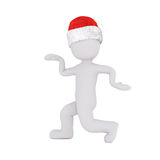 Punching or reaching out figure in santa hat Stock Photography