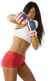 The punching woman Royalty Free Stock Photo